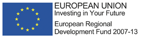 European Union flag next to text - European Union Investing in Your Future, Europen Regional Development Fund 2007-13